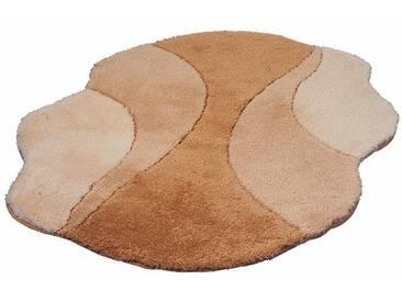 Kleine Wolke Badematte »Excelsior« , Höhe 25 mm, rutschhemmend beschichtet, fußbodenheizungsgeeignet, braun, 25 mm, toffee