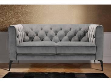 Leonique 2-Sitzer »Narmada« im Chesterfield-Design, grau, grau