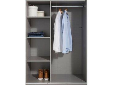 Wimex Inneneinteilung, Br. 110 cm, Höhe 160 cm, Dekor Leinen grau