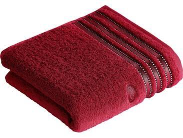 Vossen Handtücher »Cult de Luxe«, mit Glanzbordüre, rot, Walkfrottee, rubin