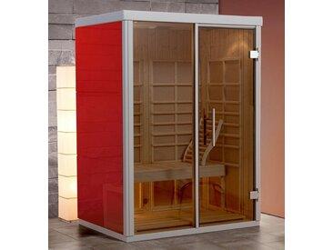 weka WEKA Set: Infrarotkabine »AktiVit Rosso Gr.2«, 150x108x206 cm, rubinrot, inkl. Aufbau, rot, rot
