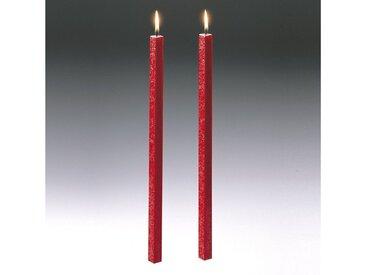 Amabiente  Kerze CLASSIC feuerrot 40cm - 2er Set, rot, feuerrot