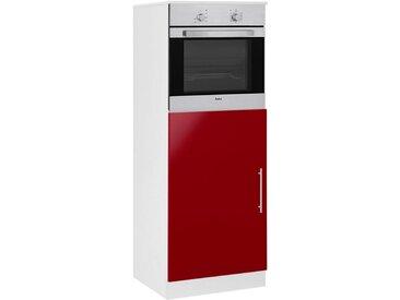 wiho Küchen WIHO Küchen Backofen-/Kühlumbauschrank »Aachen«, rot, rot Glanz