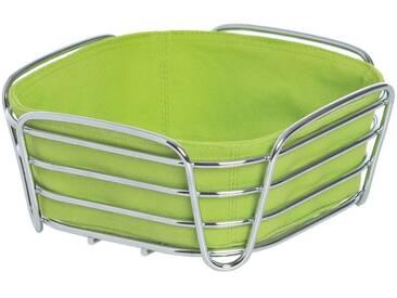 BLOMUS Brotkorb »DELARA«, Stahl, Baumwolle, grün, (L/B/H) 20,5 x 20,5 x 9,2 cm, apfelgrün