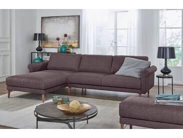 Hülsta Sofa hülsta sofa Polsterecke »hs.450« im modernen Landhausstil, Breite 282 cm, grau, Recamiere links, purpurviolett/steingrau