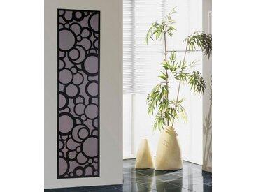 SZ METALL Badheizkörper »Kreta«, silberfarben, 180 cm, schwarz/silberfarben