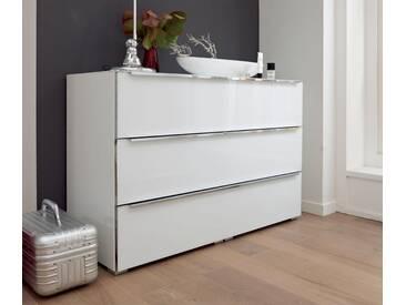 nolte® Möbel Kommode »Alegro Style«, Glasfronten, Breite 120 cm, weiß, weißglas/polarweiß