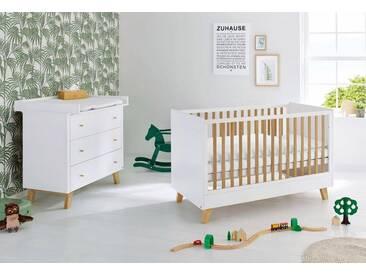 Pinolino® Pinolino Babyzimmer Set (2-tlg) Sparset »Pan« breit, weiß, weiß/eiche