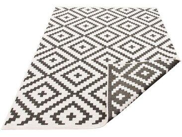 my home Teppich »Ronda«, rechteckig, Höhe 5 mm, In- und Outdoor geeignet, Sisaloptik, Wendeteppich, schwarz, 5 mm, schwarz