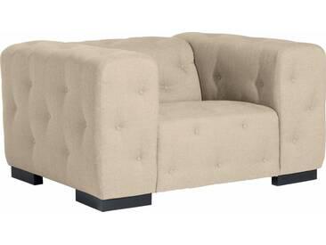 Max Winzer® Sessel »York« mit Knopfheftung, Breite 130 cm, natur, beige