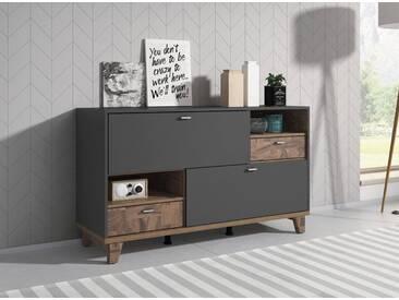 Sideboard »Move«, Breite 140 cm, grau, grau supermatt/grau supermatt-eichefarben palazzo