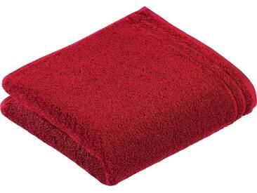 Vossen Handtücher »Calypso«, mit schmaler Bordüre, rot, Walkfrottee, rubin
