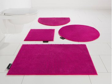 Bruno Banani Badematte »Maja« , Höhe 15 mm, rutschhemmend beschichtet, fußbodenheizungsgeeignet, rosa, 15 mm, orchid