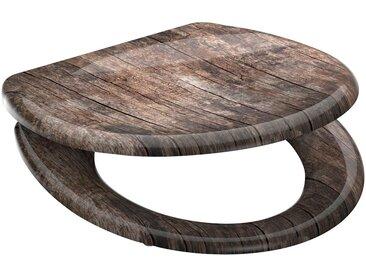 welltime WELLTIME WC-Sitz »Used Wood«, mit Absenkautomatik, abnehmbar, braun / holzoptik