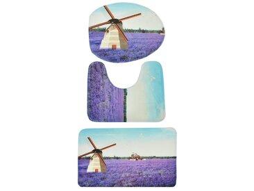 HTI-Living Badgarnitur »Motiv«, bunt, Lavendelfeld, Bunt