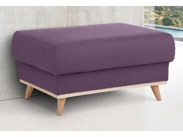 Home affaire Hocker »Edina«, im skandinavischem Stil, lila, aubergine