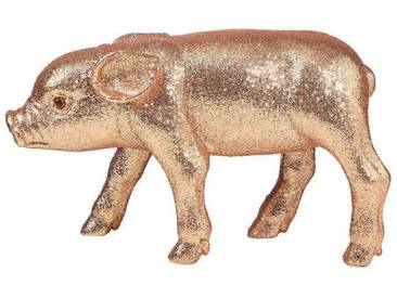 BUTLERS PIGGY »Glitter Schwein 20 cm«, beige, Länge 20 x Breite 6,5 x