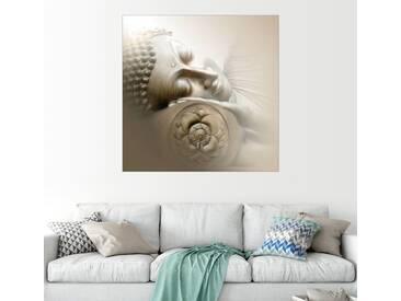 Posterlounge Wandbild - Christine Ganz »Schlafender Buddha«, natur, Leinwandbild, 120 x 120 cm, naturfarben