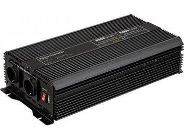 Goobay Spannungswandler 3000 W »wandelt 24 V DC in 230 V AC um«, schwarz, Schwarz