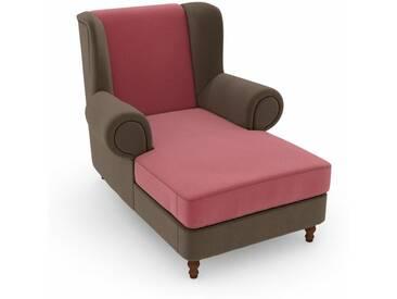 Max Winzer® build-a-chair XXL Ohrensessel »Madeleine«, zum Selbstgestalten, rosa, Korpus: Samtvelours sahara, Samtvelours rosé