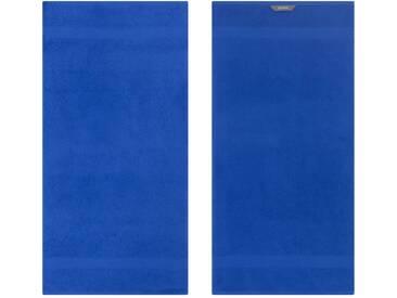 Egeria Badetuch »Diamant«, in Uni gehalten, blau, Frotteevelours, royalblau