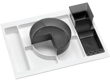 FACKELMANN Badorganizer »Schub«, Einlage für 60er-Schubfach, 4-tlg., weiß, weiß/grau