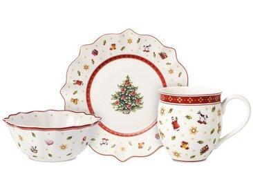 Villeroy & Boch Frühstücksset 6-teilig »Toy's Delight«, weiß, 265,00x265,00x265,00 mm, weiß,rot,gold