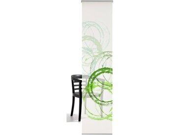 emotion textiles Schiebegardine »Aquarellkreise«, Klettband (1 Stück), inkl. Beschwerungsstange, grün, Klettband, halbtransparent, green