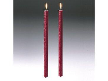 Amabiente  Kerze CLASSIC rubin 40cm - 2er Set, rot, rubin