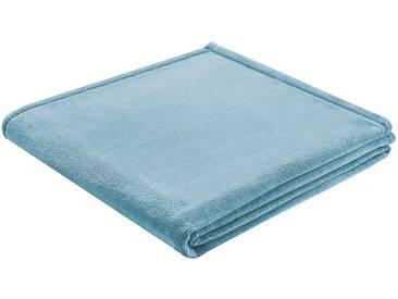 BIEDERLACK Wohndecke »King Fleece«, leichte Qualität, blau, Kunstfaser, hellblau