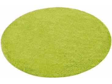 my home Hochflor-Teppich »Bodrum«, rund, Höhe 30 mm, grün, 30 mm, grün