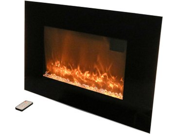 ROWI Elektrisches Kaminfeuer »HEK 2000/2/1 Color«, 2000 W, B/T/H: 90x9,6x56 cm, mit Farbwechsel, schwarz, schwarz