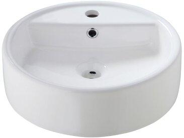 welltime WELLTIME Aufsatzbecken » Madrid«, Waschbecken, rund, Breite 44 cm, weiß