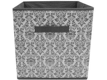 HTI-Line Aufbewahrungsbox »Paloma mit Aufdruck«, grau, Grau