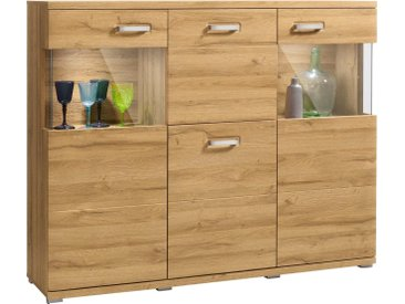 set one by Musterring Highboard »madison«, Breite 150 cm, braun, Grandson Eiche-Nachbildung