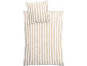 Kleine Wolke Bettwäsche »Stripe«, mit Streifen, natur, 1x 155x220 cm, Mako-Satin, beige