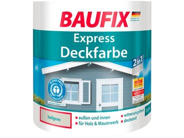 Baufix BAUFIX Buntlack express Deckfarbe hellgrau, 2,5 L, grau, 2.5 l, hellgrau