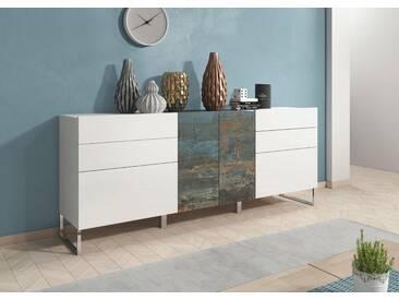 Sideboard »Patch«, Breite 195 cm, weiß, weiss-vintage-bunt/weiss Hochglanz-vintage bunt