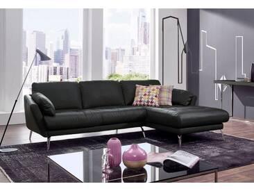 W.SCHILLIG Polsterecke »softy« mit Heftung im Sitz, schwarz, Recamiere rechts, schwarz