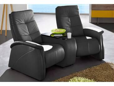 exxpo - sofa fashion 2-Sitzer, mit Relaxfunktion, integrierter Tischablage und Stauraumfach, schwarz, 207 cm, schwarz