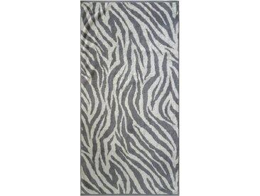 Dyckhoff Badetuch »Zebra«, in Zebrastreifen-Optik, grau, Walkfrottee, grau