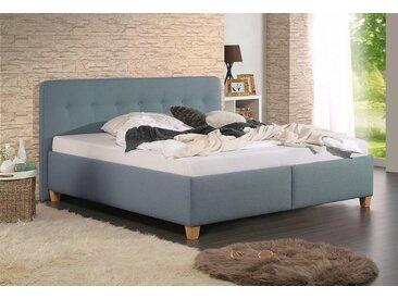 Home affaire Polsterbett »Figaro«, mit oder ohne Matratze in 2 Ausführungen, Härtegrad 2 oder 3, grün, ohne Matratze, Bettgestell ohne Matratze