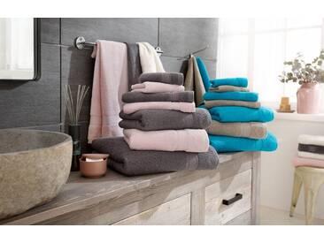 my home Handtuch Set, »Joris«, aus reiner Baumwolle (7tlg.-Set), braun, 7tlg.-Set (siehe Artikeltext), taupe