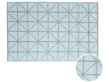 BUTLERS COLOUR CLASH »In- & Outdoor-Teppich Diamant 150x90 cm«, weiß, Salbei
