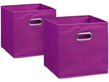Zeller Present ZELLER Aufbewahrungsbox »2er Set«, 28 x 28 cm, lila, lila
