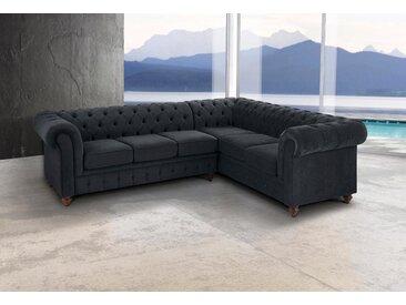 Premium collection by Home affaire Ecksofa »Chesterfield«, grau, 250 cm, langer Schenkel links, anthrazit