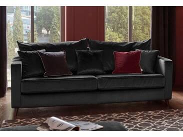 Guido Maria Kretschmer Home&Living 3-Sitzer »Renesse«, lose Kissen, Keder an Sitzkissen, schwarz, 203 cm, schwarz