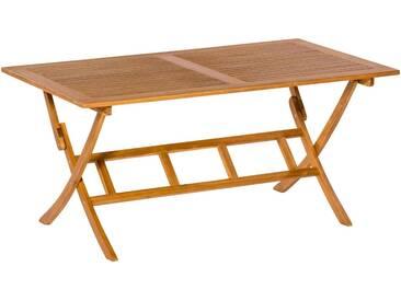 MERXX Gartentisch , Akazienholz, klappbar, braun, 160 cm x 90 cm, braun / holzoptik