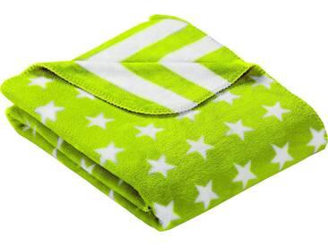 Goldmond Wohndecke »Stars & Stripes«, in Stern- und Streifenoptik, grün, Kunstfaser, apfelgrün