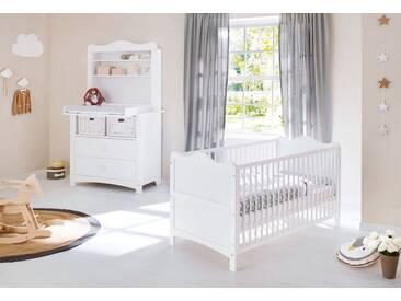 Pinolino® Pinolino Babyzimmer Set (3-tlg) Sparset »Florentina« breit, inkl. Regalaufsatz, weiß, weiß